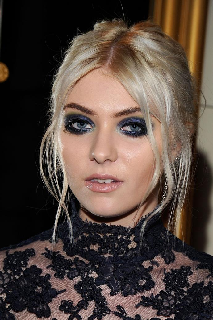 We're not sure if the heavy look is for us, but 'Gossip Girl' actress Taylor Momsen sure makes a statement