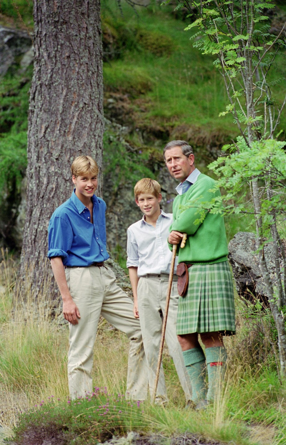 "*Prince William with his father Prince Charles and brother Prince Harry visiting Glen Muick on the Balmoral Estate in 1997.* <br><br> **Making your grandmother displeased is bad enough, but imagine if she was also the Queen:** <br><br> During an interview ahead of the Queen's Diamond Jubilee in 2012, Prince William was asked what he's learned growing up, to which he replied: ""I learned from growing up, you don't mess with your grandmother!"" <br><br> *(Image: Getty)*"
