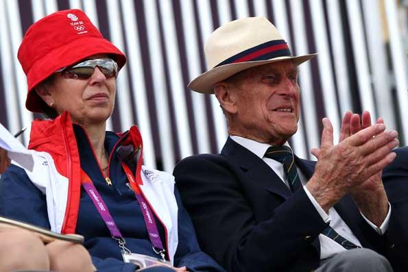 Princess Anne and Prince Philip at the Olympics on Day 2 to support Zara