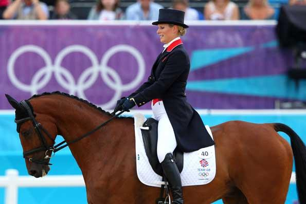 Zara Phillips competiting in the Olympics 2012