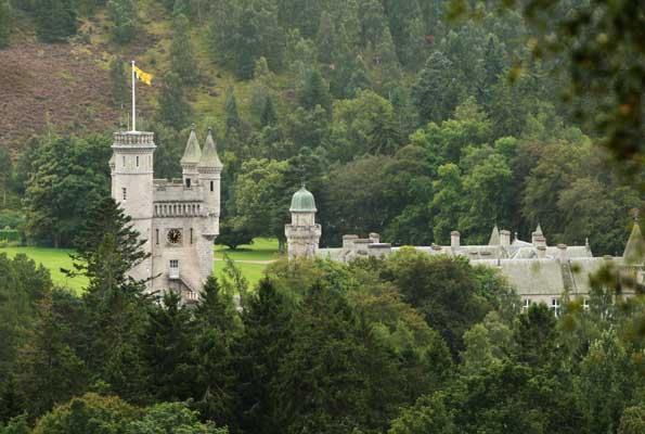 The Prince travelled by road to hospital from Balmoral Castle (above)
