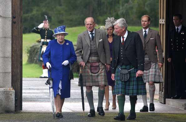 Earlier this month Prince Phillip looked relaxed during a walk with Queen Elizabeth II