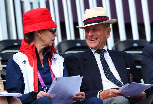 Prince Phillip enjoyed time with his daughter Princess Anne during the London Olympic Games