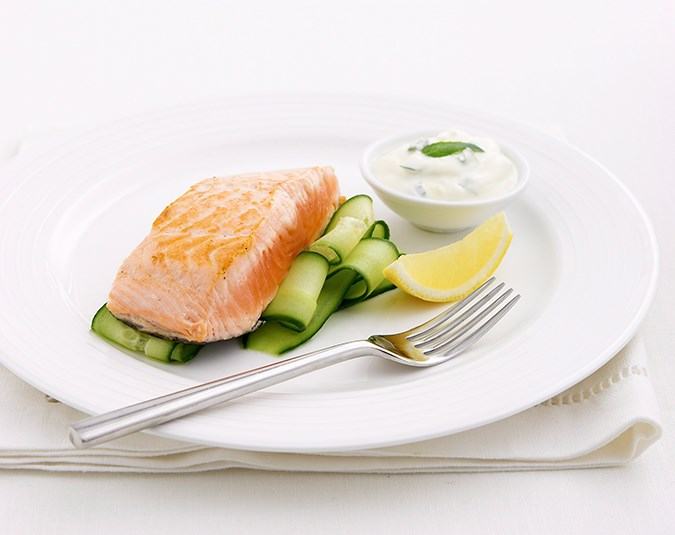 Have healthy fats with your meals. Fats not only help to keep blood-sugar levels stable, they can also make you feel full. Good sources of healthy fats include avocados, nuts and seeds, extra virgin olive oil and natural fats found in animal products such as salmon and eggs.  Image: Rob Shaw/ bauersyndication.com.au