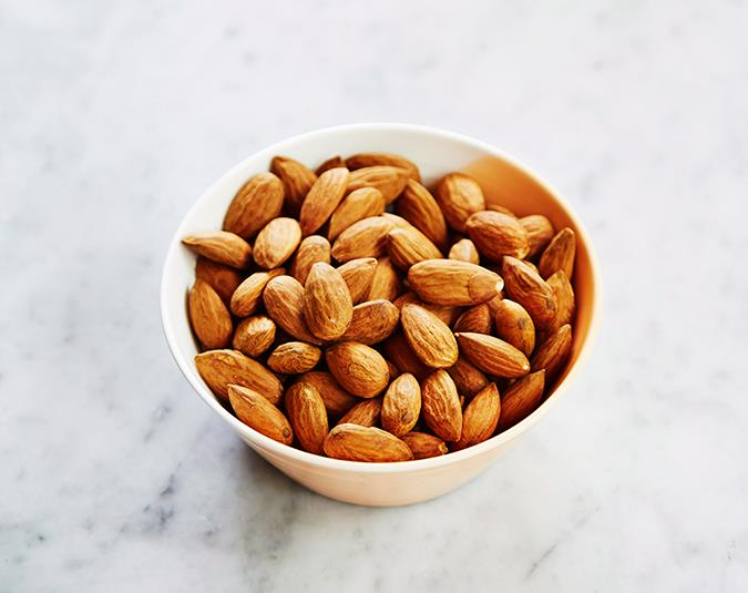 Nuts for insomnia   Almonds and cashews are a good source of magnesium, which is a natural sedative. A shortage of magnesium can lead to problems sleeping, along with constipation, cramps, anxiety and pain.  Image: Andrew Finlayson/ bauersyndication.com.au