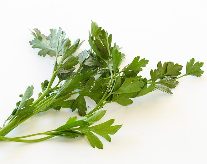 Parsley for bad breath  Chewing this herb can help conquer nasty breath. That's because it is rich in chlorophyll, a compound that kills the bacteria that can cause it. Parsley is especially good at getting rid of the odour associated with eating smelly foods, such as garlic and onions.  Image: Phillip Castleton/ bauersyndication.com.au