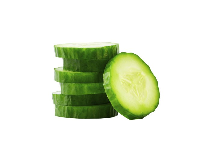 Cucumber: Contains 16 calories per 100g. A high water content means few calories. Cucumbers can also help to reduce inflammation in the body.