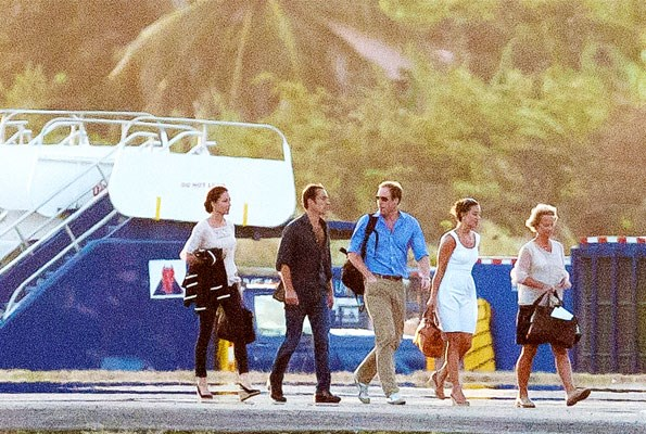 Arriving in Mustique, the prince didn't want to miss out on celebrating Carole's big day with Kate, James and Pippa.