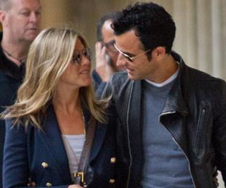 Jennifer Aniston spotted in Paris with Justin Theroux