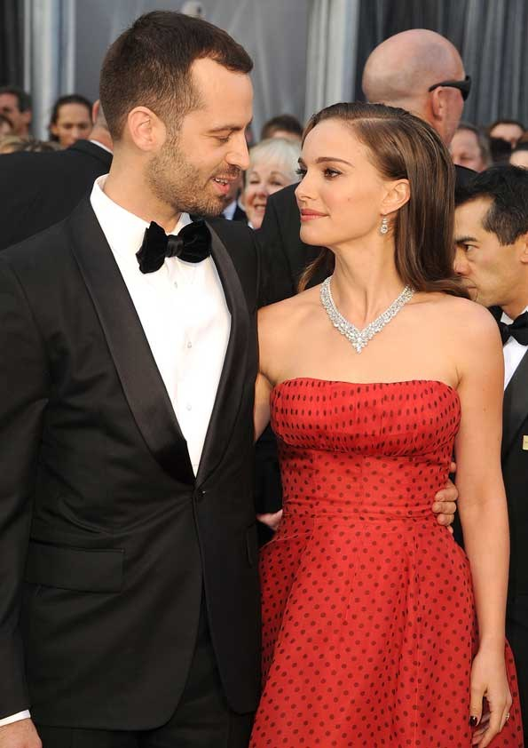 The couple share a loving moment at the Academy Awards earlier this year