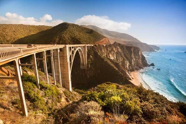 Bixby Bridge near the rocky Big Sur coastline