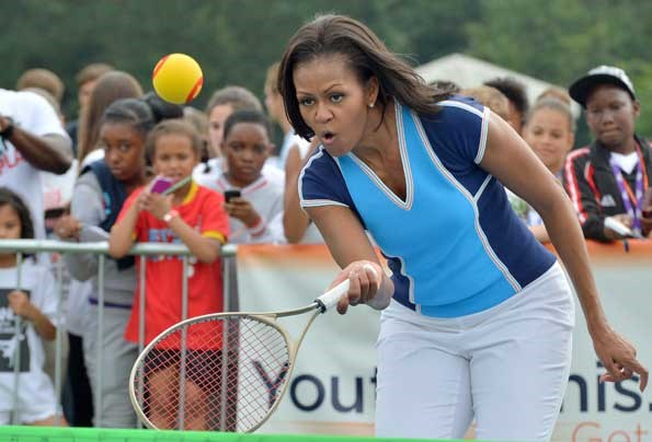 Michelle Obama's love of sports is well known.