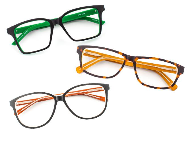 Girls with glasses  Glasses don't need to be dull and boring. We love the new Cheap Monday Eyewear collection at Specsavers which come in a variety of different colours and prints. Specsavers offers a great two for one deal, which means two pairs of frames from the range are valued from $299.