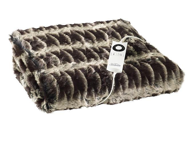 Snuggle up  The new Sunbeam Feel Perfect Faux Fur blanket, $299.99, combines the comfort of an electric blanket with the style of a faux fur throw. You won't want to leave the couch once you're cuddled up under it! The blanket feature nine heat settings and a fast 10-minute warm up process. Available at all leading appliance retailers. See, sunbeam.co.nz