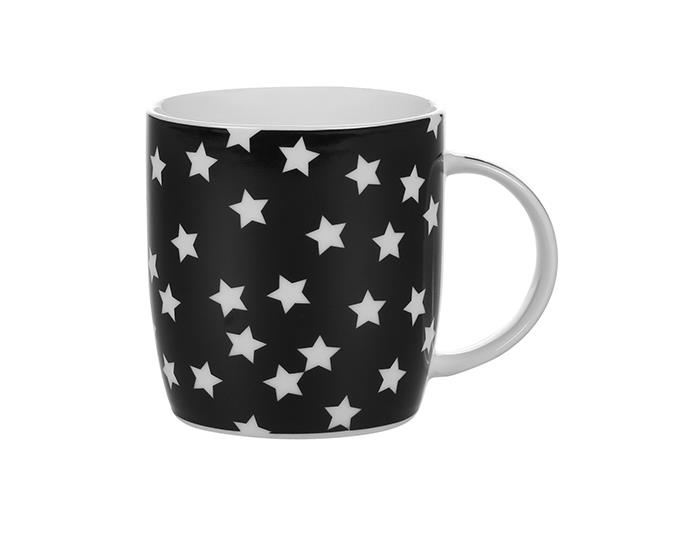 Farmers Haven Star Mug in black, $6.99.
