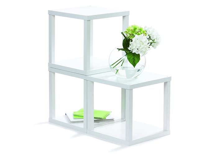 Kmart Homemaker Stacking Cubes in white, $19 each.