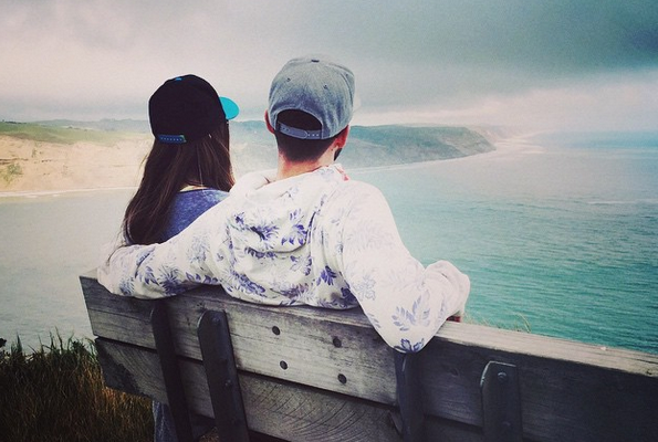 The couple take in New Zealand's natural beauty.   Image: Instagram user justintimberlake.