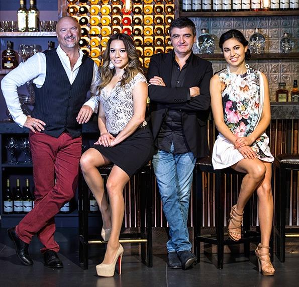 Nadia with her fellow My Kitchen Rules NZ judges.