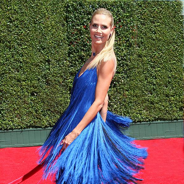 Heidi wore Sean's controversial dress at this year's Emmy Awards.