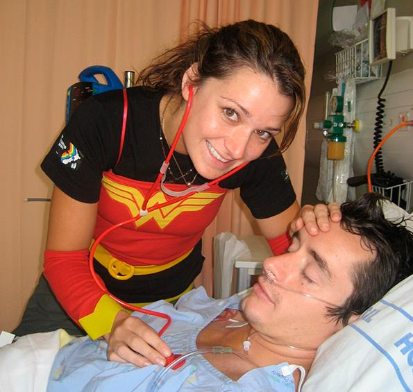 Wonder Woman Erin cared for then-boyfriend Mat during his struggle with cancer.