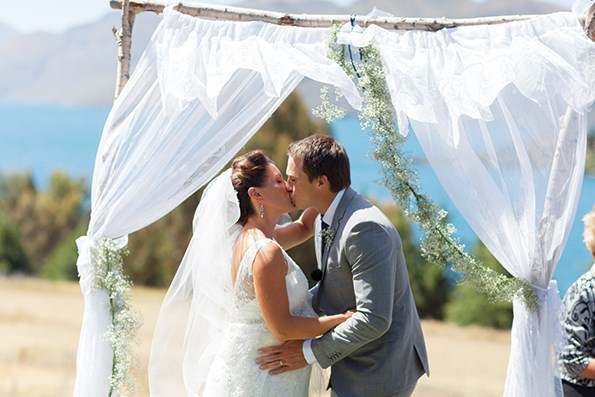 Ben and Katie wed outdoors in beautiful Wanaka.