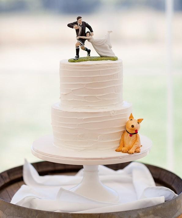 Ben and Katie's wedding cake.