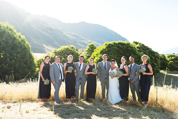 Ben and Katie with their wedding party.
