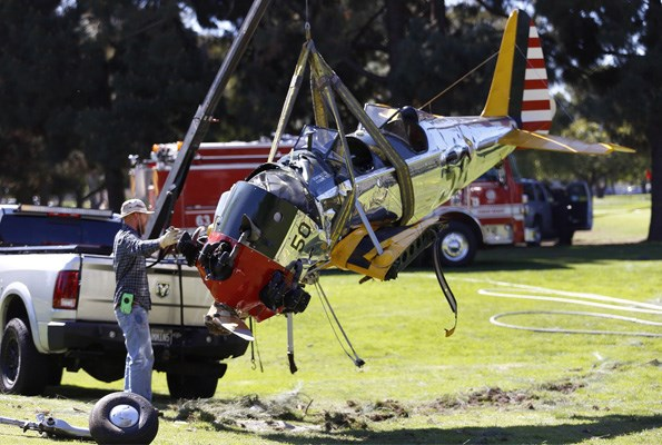 Investigators say Ford made an expert emergency landing that many pilots would not have walked away from.