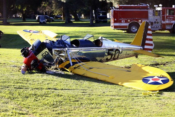 Harrison Ford was lucky to survive after crashing his vintage WW2 plane.