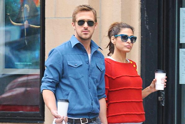 Ryan is glad to have wife Eva Mendes by his side.