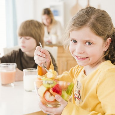 Teaching good breakfast habits
