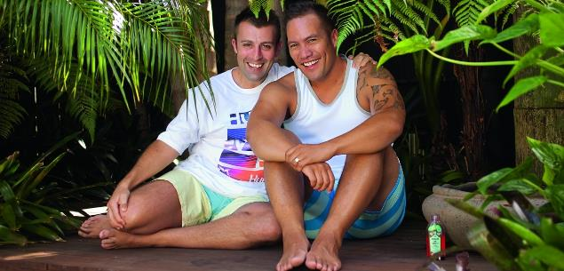 Tamati Coffey and Tim Smith's honeymoon bliss