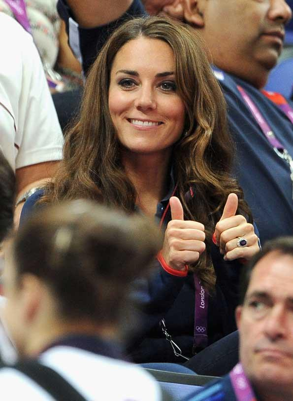 Kate Middleton was an enthusiastic supporter at the 2012 Olympic Games