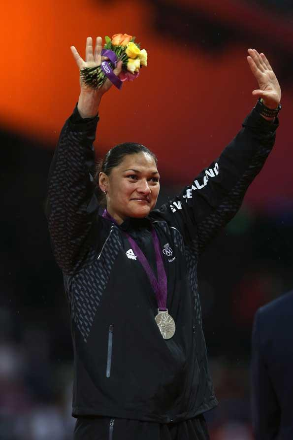 Though disappointed, Valerie Adams put on a brave face