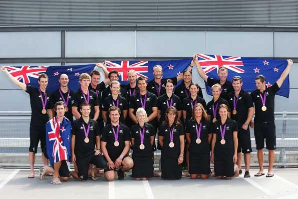 The NZ medalists pose with their medals
