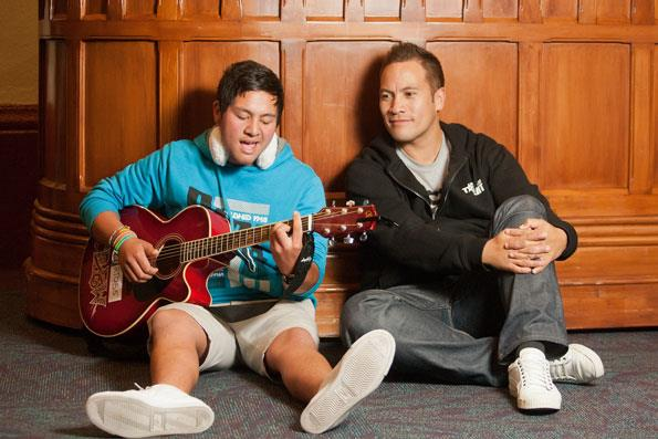 Having battled with nerves as a teenager, Tamati knows what this young hopeful is going through