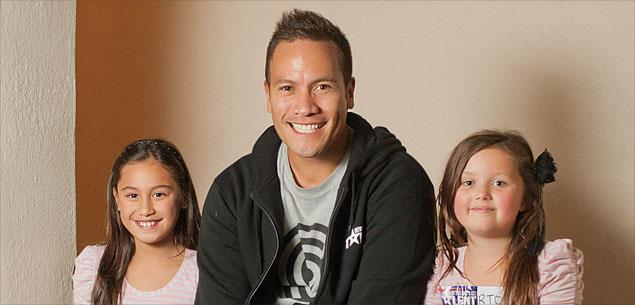 Tamati Coffey with two 'New Zealand's Got Talent' contestants
