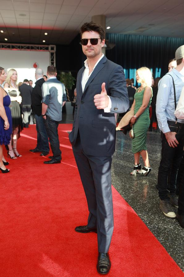 The party got a big thumb up from 'Dredd 3D' star Karl Urban