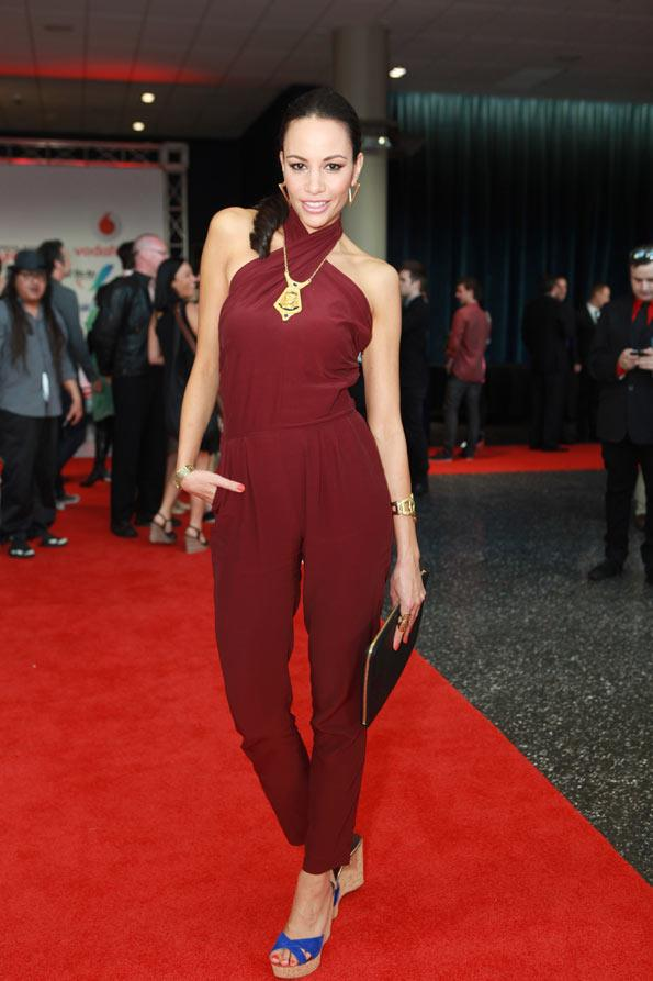 'Shorty' star Shavaughn Ruakere looked gorgeous in her red jumpsuit.