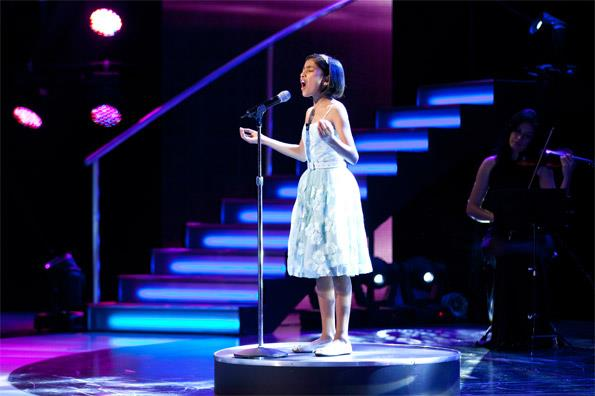 The judges have been wowed by the 11-year-old's poise.