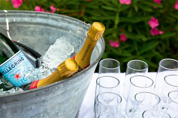 Guests were greeted with Bollinger as they arrived.