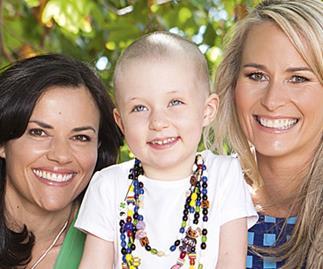 Bernadine Oliver-Kerby and Amanda Billing with Emilie