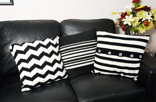 From left: Chevron, Centre Stripe, Striped