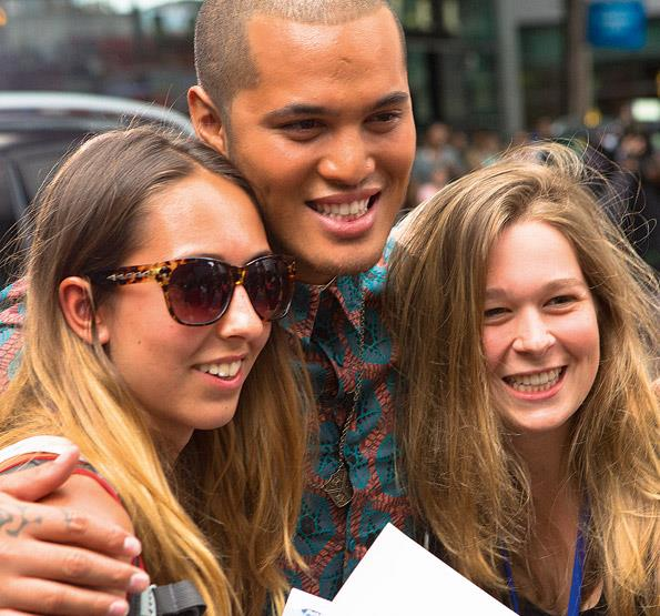 Stan has quickly become the ladies\' man, with girls queuing up to have their photo taken. But the singer is madly in love with his girlfriend, Brittany Cairns.