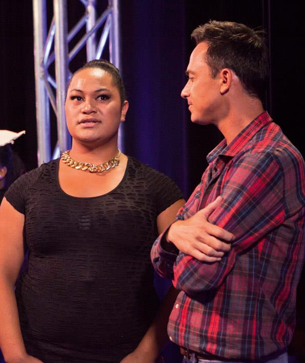 Exhiberant drag queen Ashley Tonga was a huge favourite, and made the most of her success at getting into boot camp, insisting on a huge hug from Dom.
