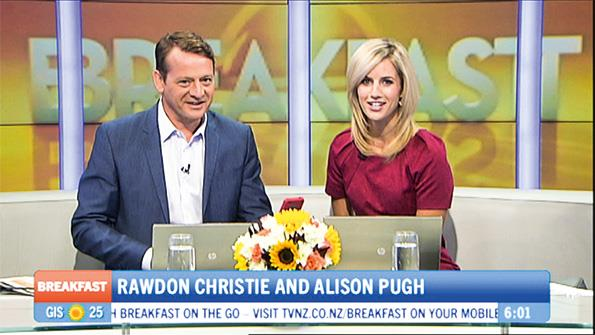 Ali makes her debut on Breakfast with Rawdon.