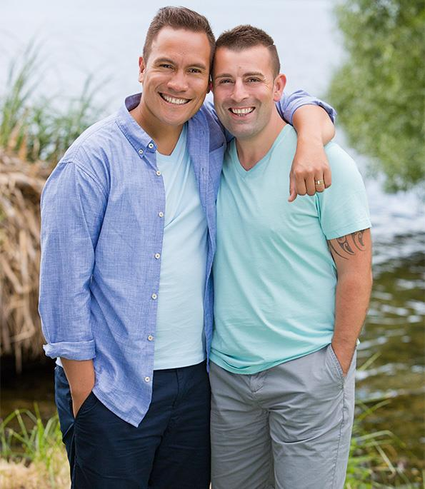 Tamati Coffey and his partner Tim Smith