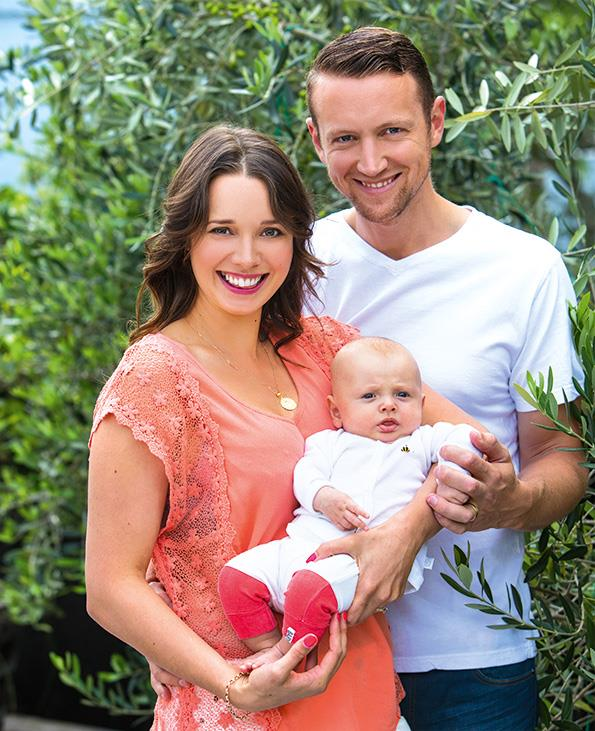 Anna and James say they feel more connected since the birth of their son Ted.