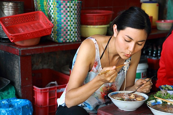 Nadia, who was exposed to many flavours and cuisines growing up, recently spent time trading cooking secrets with locals in the heart of Vietnam. / Photo: Caren Davis
