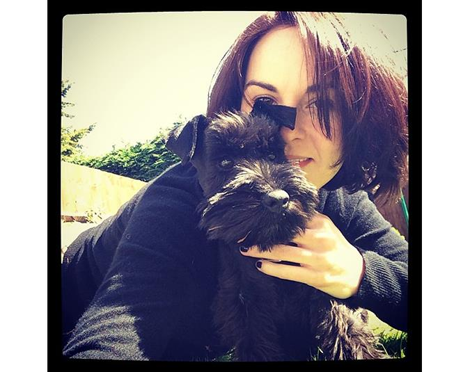 Downton Abbey star Michelle Dockery shared this adorable puppy selfie. Source: Instagram user theladydockers.